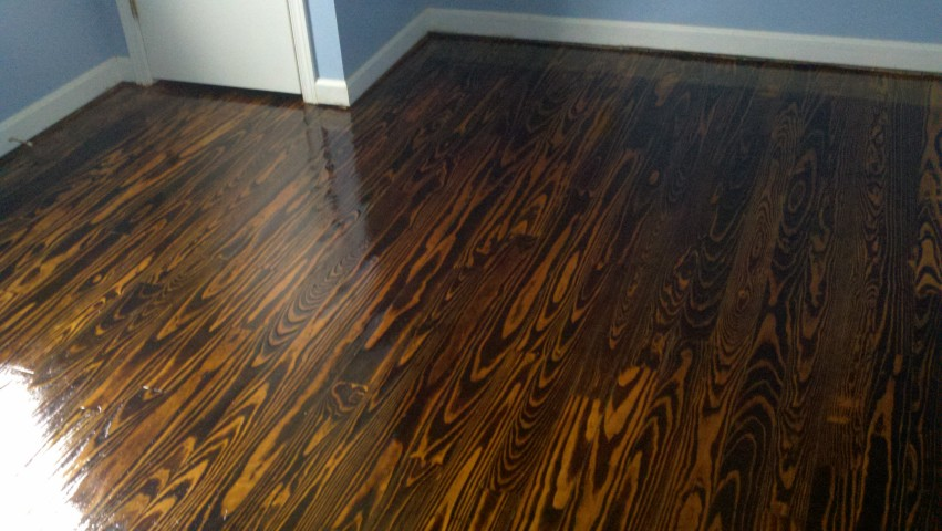 a fixed up and restored hardwood floor
