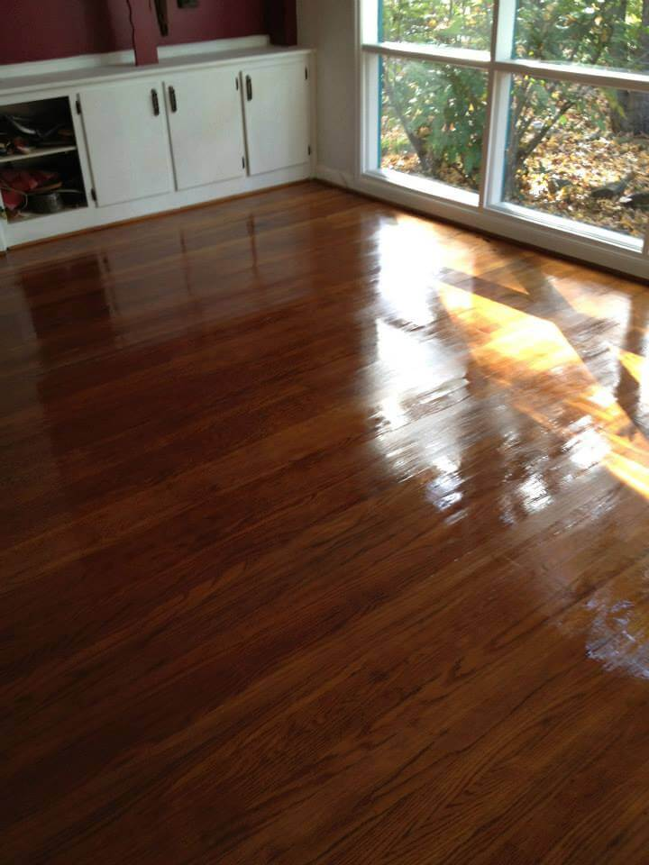 a refinished hardwood floor in nashville