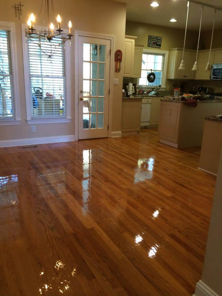 a refinished hardwood floor in the Nashville area