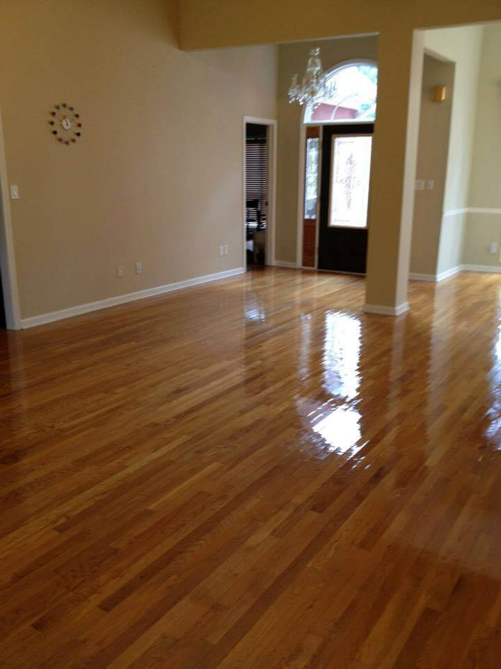 a resurfaced hardwood floor