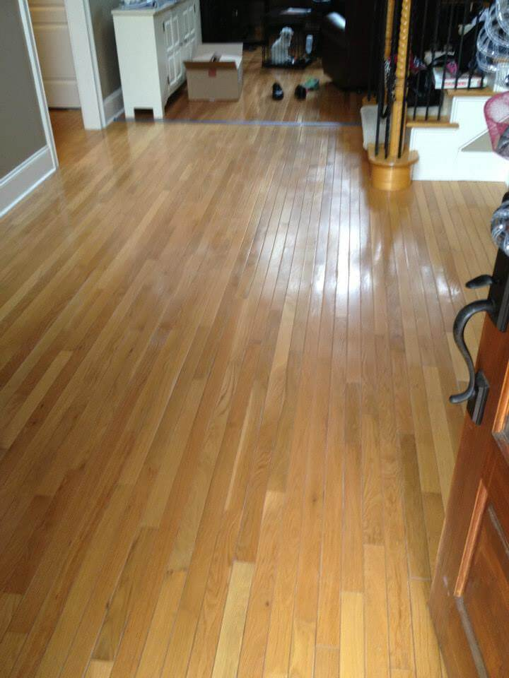 a lightly scratched hardwood floor