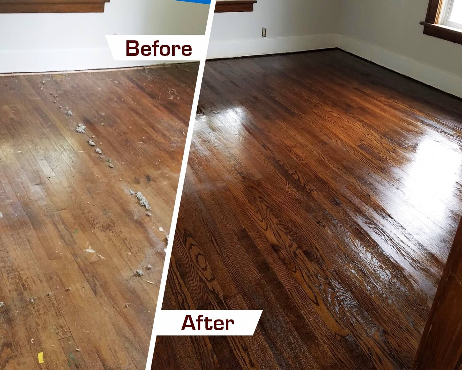 before and after shots of a Fabulous Floors Nashville project