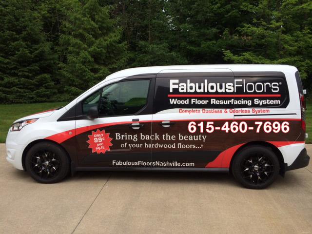 The Fabulous Floors Nashville Van outside of our office