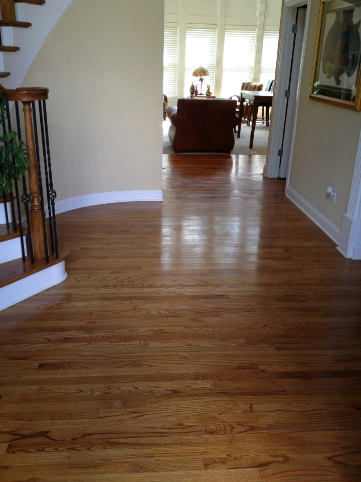 before hardwood floor refinishing in Nashville, TN